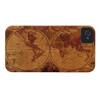 Arty Vintage Old Rustic World Map iPhone 4 Case