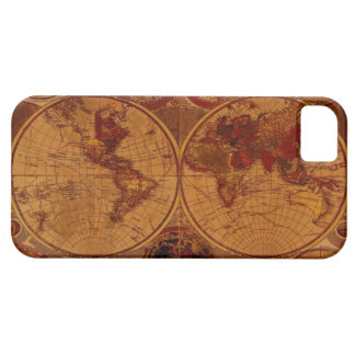 Arty Vintage Old Rustic World Map iPhone 5 Case