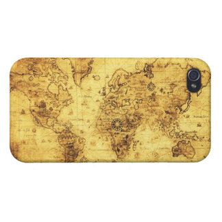 Arty Vintage Old World Map iPhone 4 Savvy Case Cover For iPhone 4