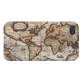 Arty Vintage Old World Map iPhone 4 Savvy Case iPhone 4/4S Covers