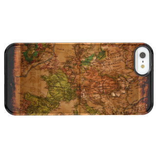 Arty Vintage Old World Map of Europe 1740 Clear iPhone SE/5/5s Case