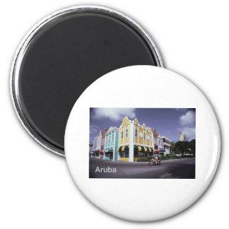 Aruba 6 Cm Round Magnet
