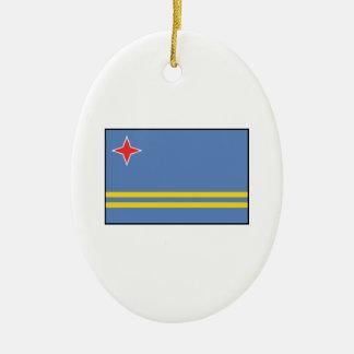 Aruba – Aruban Flag Christmas Ornament
