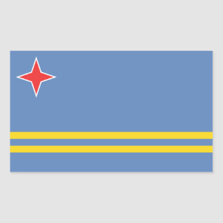 Aruba/Aruban Flag, Netherlands/Dutch Rectangular Sticker