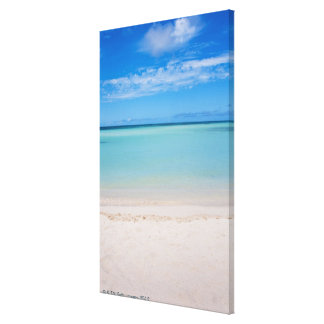 Aruba, beach and sea 3 canvas print