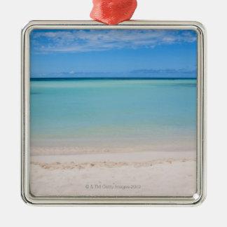 Aruba, beach and sea 3 Silver-Colored square decoration