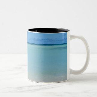 Aruba, beach and sea 3 Two-Tone coffee mug