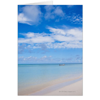 Aruba, beach and sea card