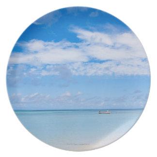Aruba, beach and sea plate