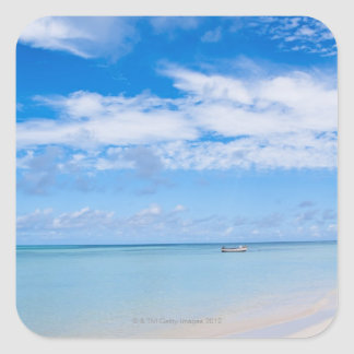 Aruba, beach and sea square sticker
