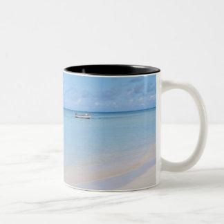 Aruba, beach and sea Two-Tone coffee mug