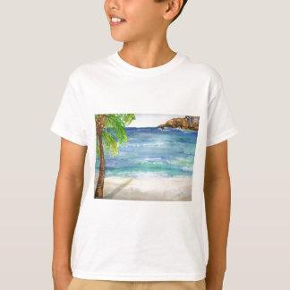 Aruba Beach with Palm Tree T-Shirt