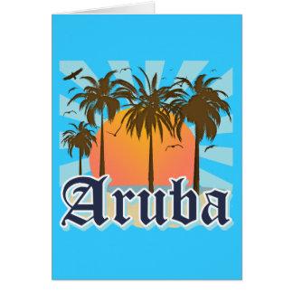 Aruba Beaches Sunset Card