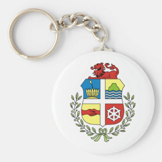 Aruba Coat of arm AW Basic Round Button Key Ring