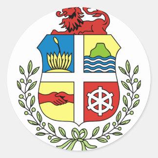 Aruba Coat of arm AW Classic Round Sticker