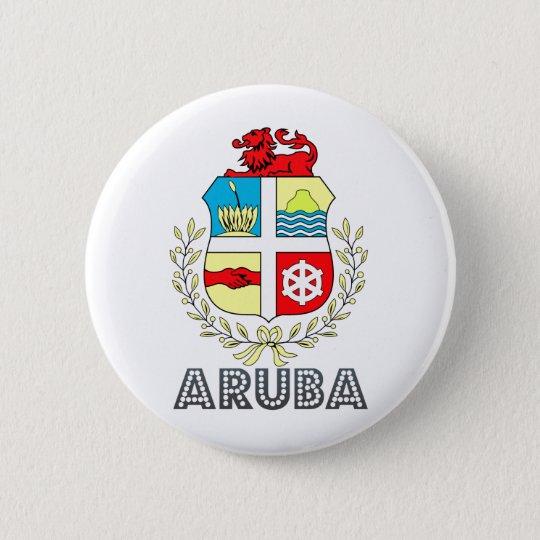 Aruba Coat of Arms 6 Cm Round Badge