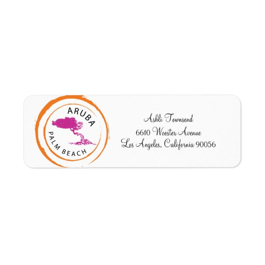 Aruba Divi Divi Tree Return Address Return Address Label