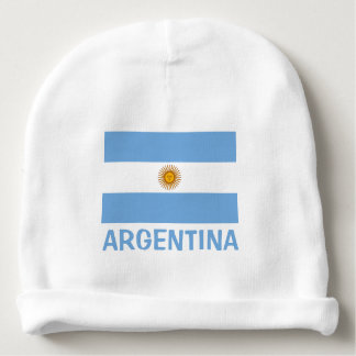 Aruba Flag Customizable Blue Text Baby Beanie