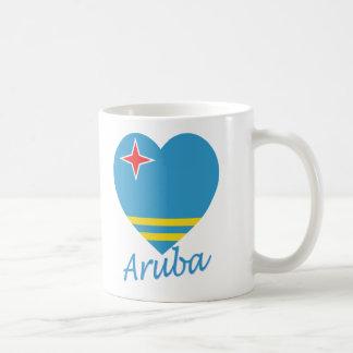 Aruba Flag Heart Coffee Mug