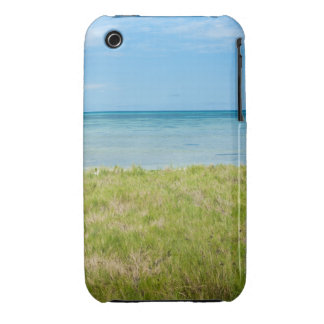Aruba, grassy beach and sea iPhone 3 cover