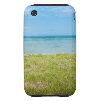 Aruba, grassy beach and sea iPhone 3 tough covers