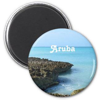 Aruba Landscape 6 Cm Round Magnet