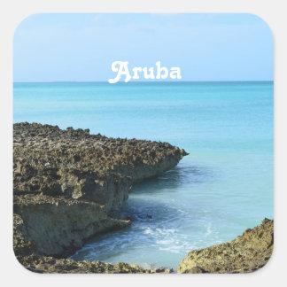 Aruba Landscape Square Sticker