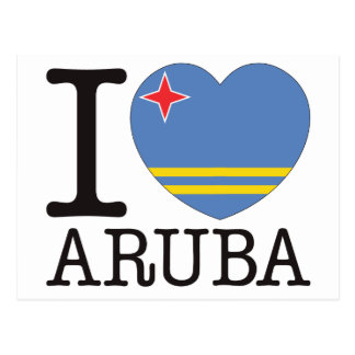 Aruba Love v2 Postcard