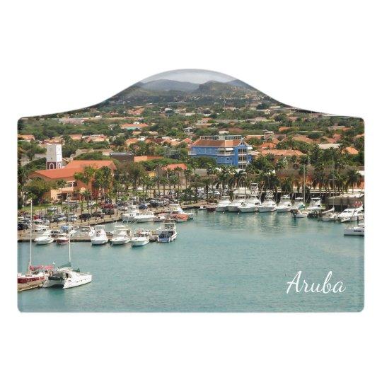 Aruba Marina Door Sign