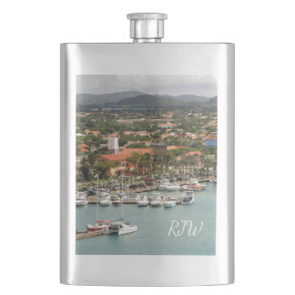 Aruba Marina Monogrammed Hip Flask