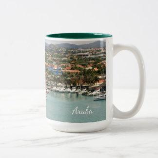 Aruba Marina Two-Tone Coffee Mug