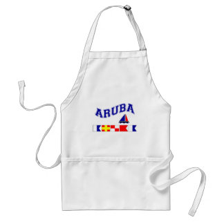 Aruba (Maritime Flag Spelling) Standard Apron