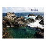 aruba, natural pool postcard