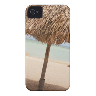 Aruba, palapa on beach iPhone 4 Case-Mate case