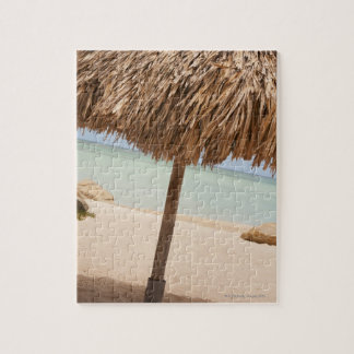 Aruba, palapa on beach jigsaw puzzle