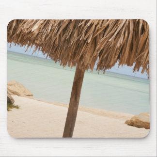 Aruba, palapa on beach mouse mat