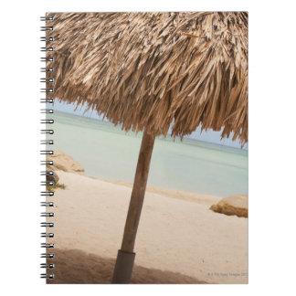 Aruba, palapa on beach notebook