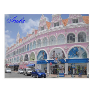 Aruba, Postcard Downtown Oranjestad, Aruba