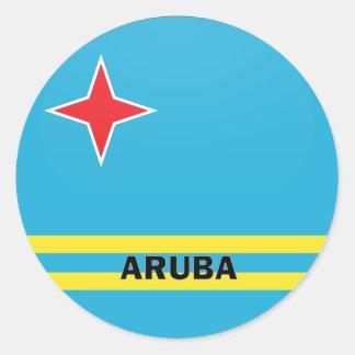 Aruba Roundel quality Flag Classic Round Sticker