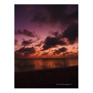 Aruba, sea at sunset postcard