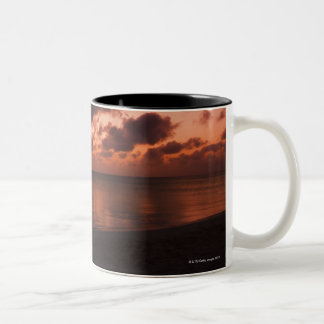 Aruba, sea at sunset Two-Tone coffee mug