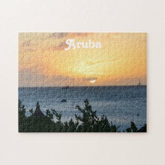 Aruba Setting Sun Jigsaw Puzzle