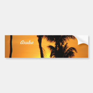 Aruba Sunset Bumper Sticker