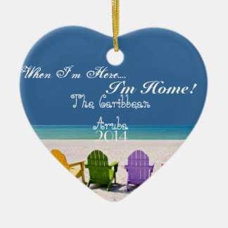 ARUBA THE CARIBBEAN- BEACH LOVER GIFT ORNAMENT