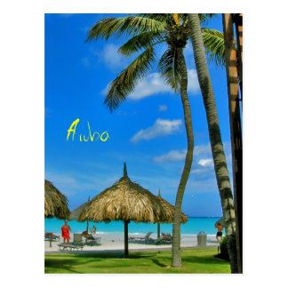 Aruba Tiki Hut Postcard