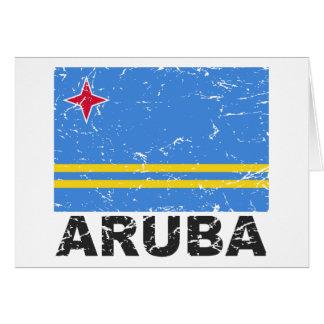 Aruba Vintage Flag Card