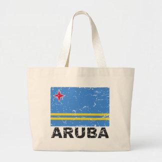 Aruba Vintage Flag Jumbo Tote Bag