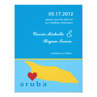 Aruba Wedding Save the Date Announcement
