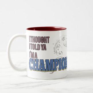 Aruban and a Champion Coffee Mug