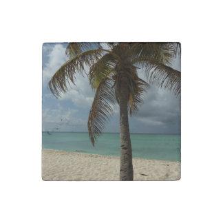 Aruban Beach I Beautiful Nature Scene Stone Magnet